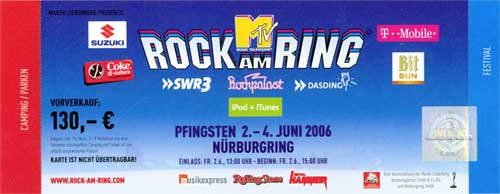 rock am ring 2006 rar live concert germany allemagne