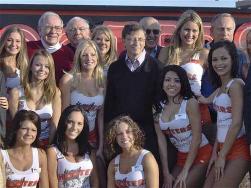 microsoft bill gates vista hooters filles nues