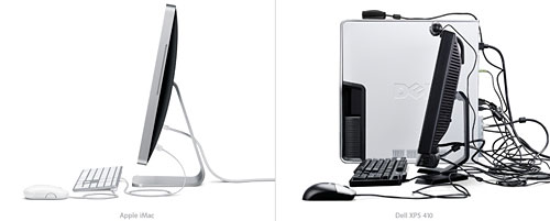 comparaison apple imac dell xps 420 design mac