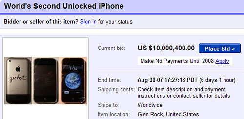 ebay highest bid unlocked iphone desimlocke