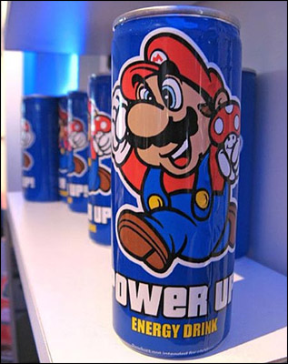 Super Mario bros Energy Drink can vodka redbull lemon