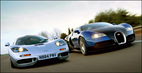 McLaren F1 vs Bugatti Veyron photos