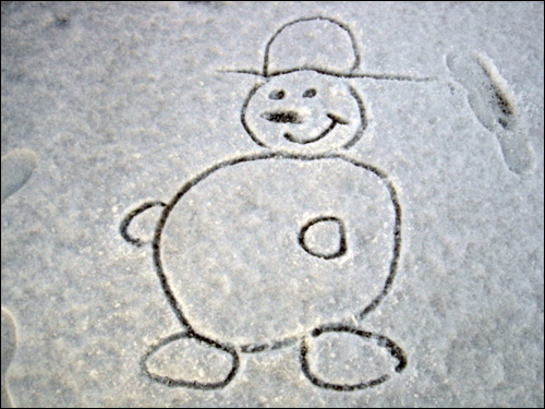 image photo bonhomme de neige bouli