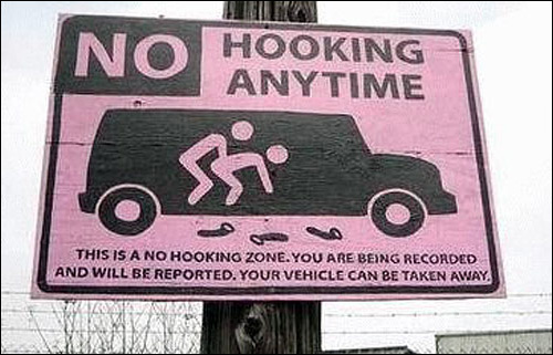 no hooking anytime no sex here panel panneau card