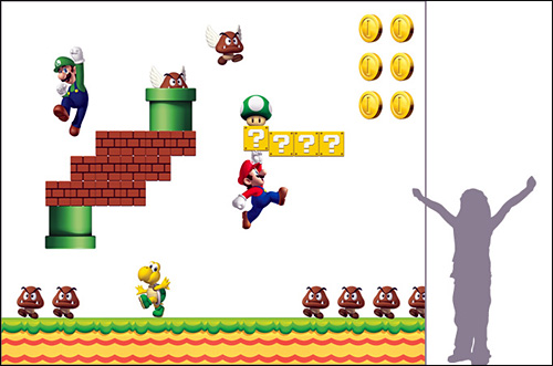 photo tapisserie nintendo super mario bros