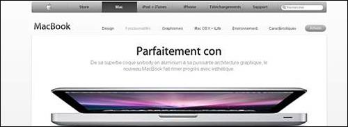apple macbook pub site parfaitement con concu