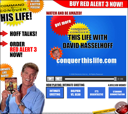 Command and Conquer Red Alert 3 David Hasselhoff Conquer this life