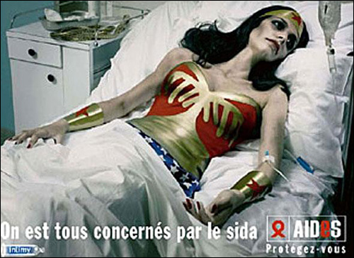 photo affiche publicite sida aides sidaction