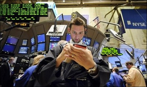 photo crise bourse wall street