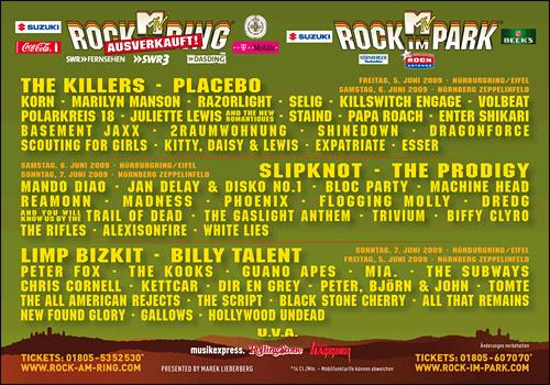 photos rock am ring 2009 rock im park 2010 live concert konzert fotos programme setlist