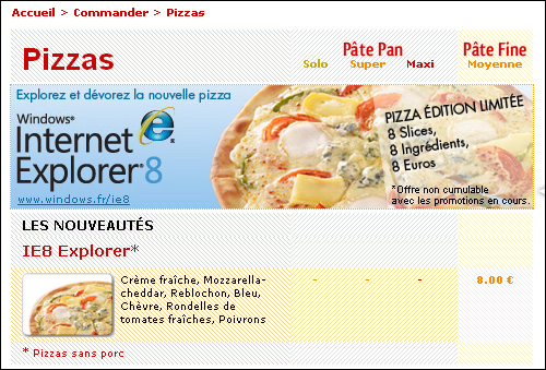 speed rabbit pizza internet explorer 8 ie8