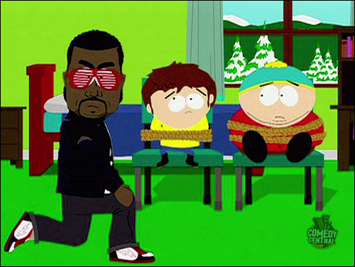 kanye west south park gay fish