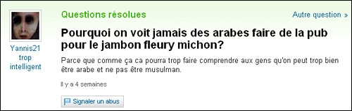 yahoo question reponse insolite answers dumb