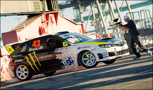 photo subaru impreza sti crawford ken block drift gymkhana