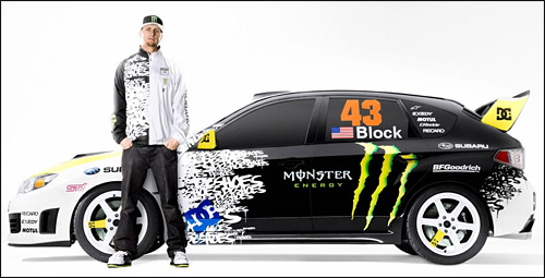 photo subaru impreza sti crawford ken block drift gymkana