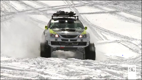 photo ken block subaru impreza snowscoot