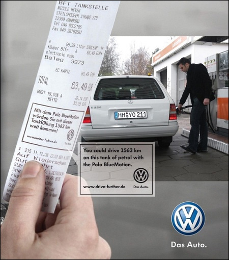 publicite volkswagen polo bluemotion