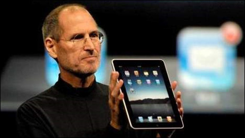 steve jobs apple ipad photo