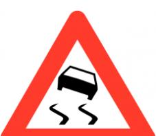 panneau danger route