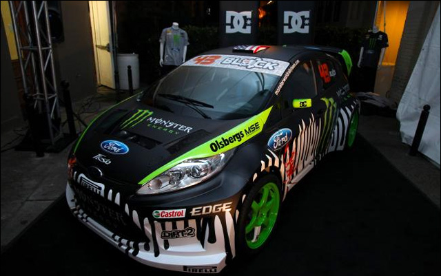 ken block ford fiesta drift