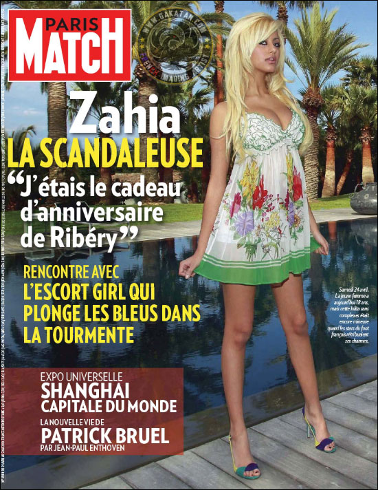 paris match zahia dehar couverture