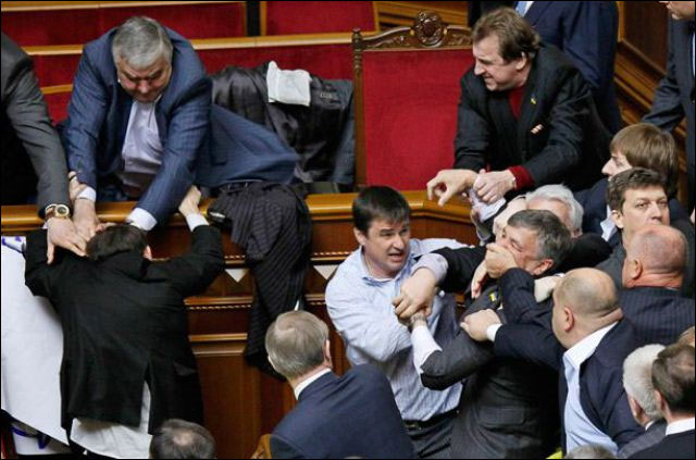 parlement ukraine depute bagarre photo