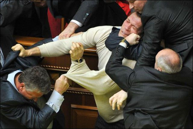 parlement ukraine depute fight