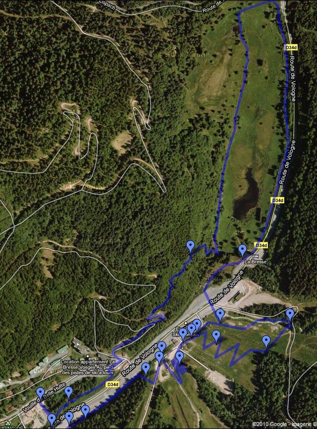 strongman run france parcours google maps