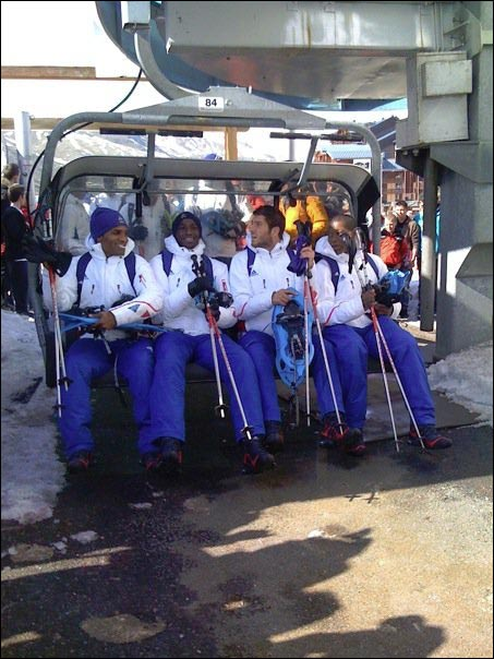 equipe france foot tignes ski
