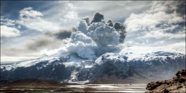 Eyjafjallajokull volcan islande photo
