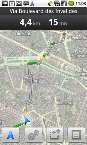 google gps navigation 3D gratuit android screenshot photo