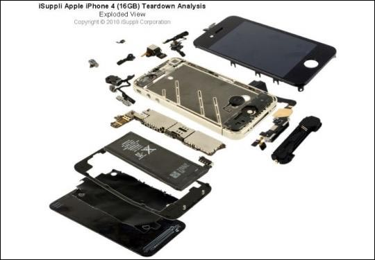 photo apple prix pieces iphone 4 parts isuppli