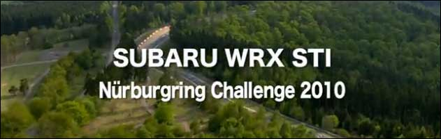 subaru impreza wrx sti nurburgring 2010 video