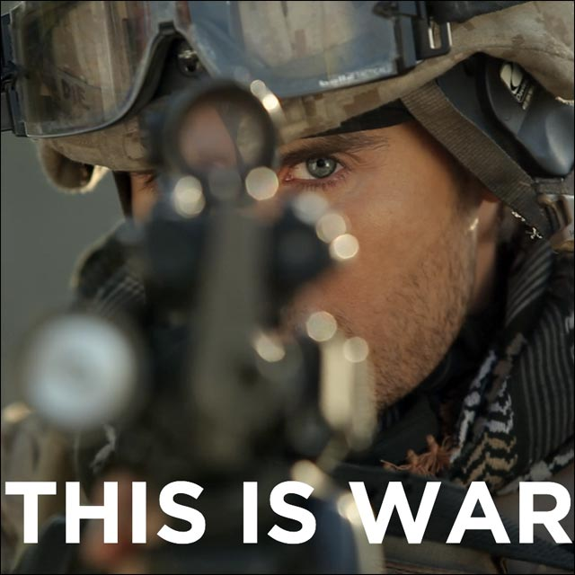 30 seconds to mars this is war photo Jared Leto soldat soldier 30STM