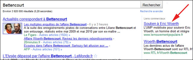 Bettencourt google adwords UMP failed
