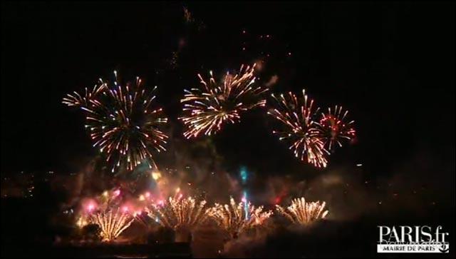 photo video hd feu artifice paris fete nationale 14 juillet 2010