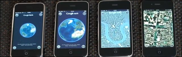 benchmark video iPhone v1, 3G, 3GS 4 v4 4g hd