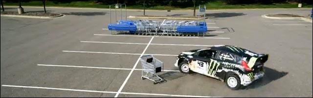 Ken Block rallye drift Ford Fiesta WRC publicite video