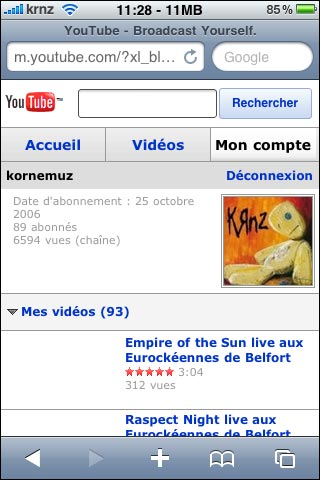 new youtube mobile screenshot iphone kornemuz krnz