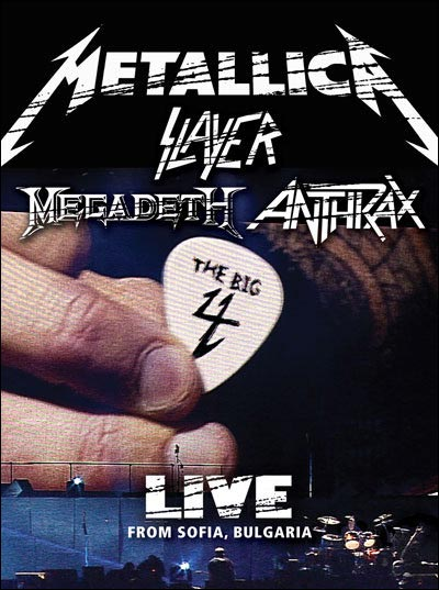 The Big Four Metallica, Slayer, Megadeth et Anthrax dvd affiche