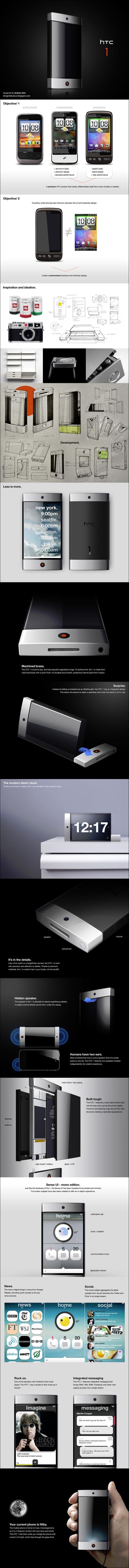 photo design smartphone HTC 1 one concept
