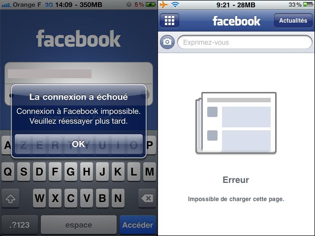 iphone facebook application bug soluce comment faire how to