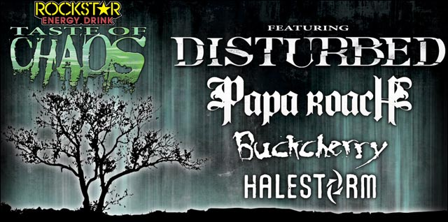 taste of chaos live concert disturbed papa roach buckcherry halestorm