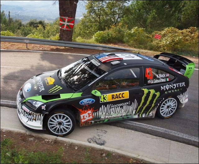 photo ken block rallye espagne 2010 drift