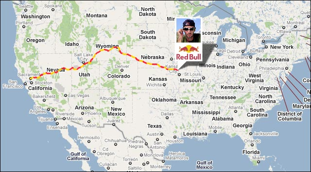google maps carte routiere pony express run marathon man karl meltzer