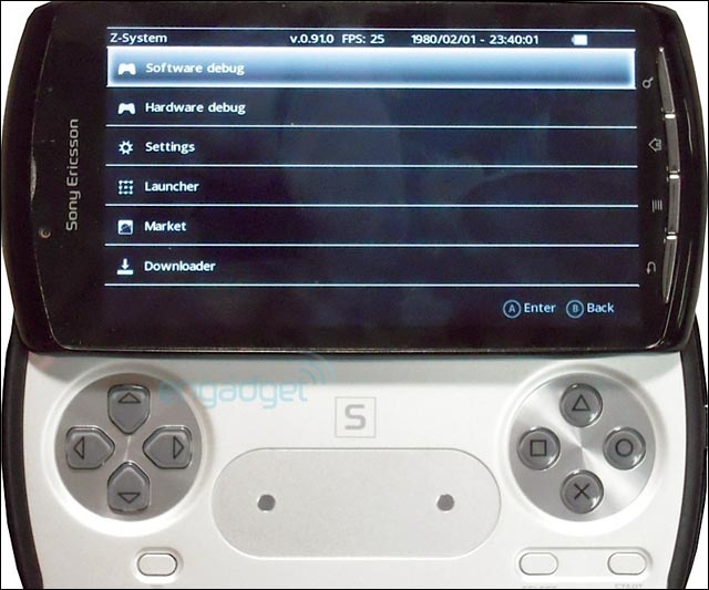 photo exclusive playstation phone psphone os android 3.0 Gingerbread