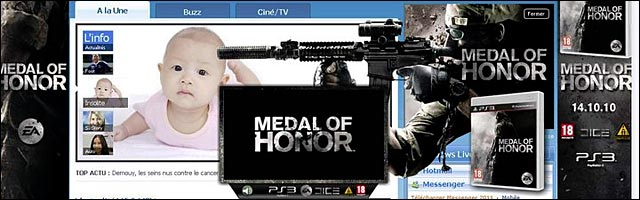 publicite medal of honor tue bebe