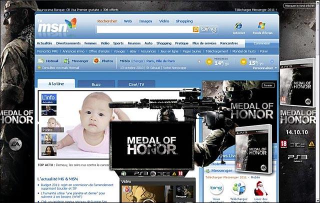 publicite screenshot bebe medal of honor
