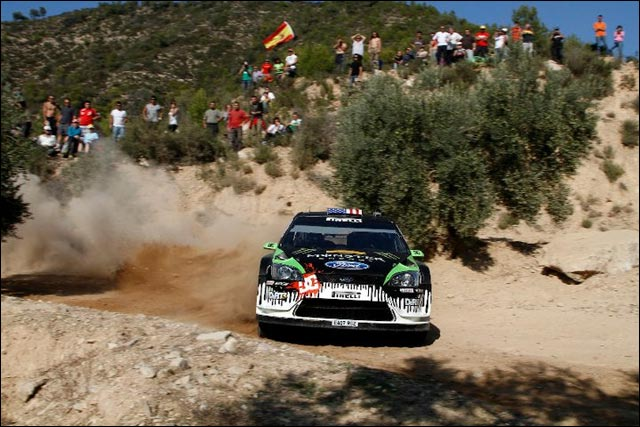photo haute definition rallye espagne 2010 wrc ken block ford focus 2011
