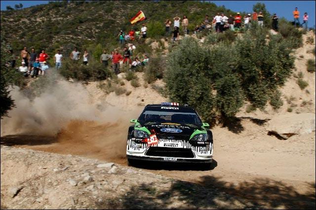 photo haute definition rallye espagne 2010 wrc ken block ford focus 2011
